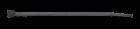 Стяжка кабельная чёрная 200х4,5 за 100 шт